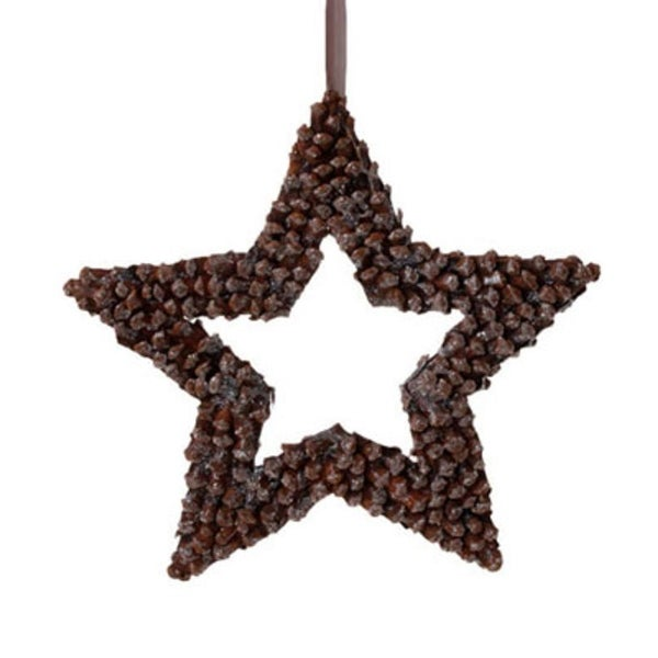 "13"" In The Birches Brown Pine Cone Star Christmas Ornament"