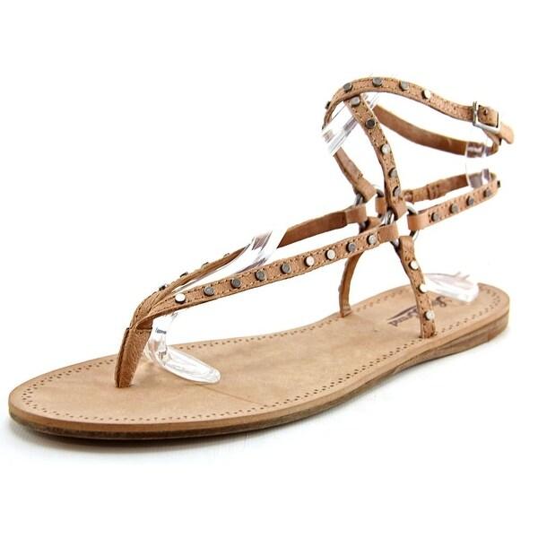Lucky Brand Adivita Women Open Toe Leather Tan Thong Sandal
