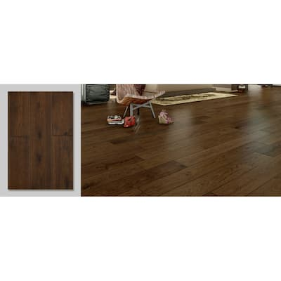 East West Furniture Interlocking Wooden Floor Tiles - Engineered Hardwood Flooring for Indoor (Color Option)