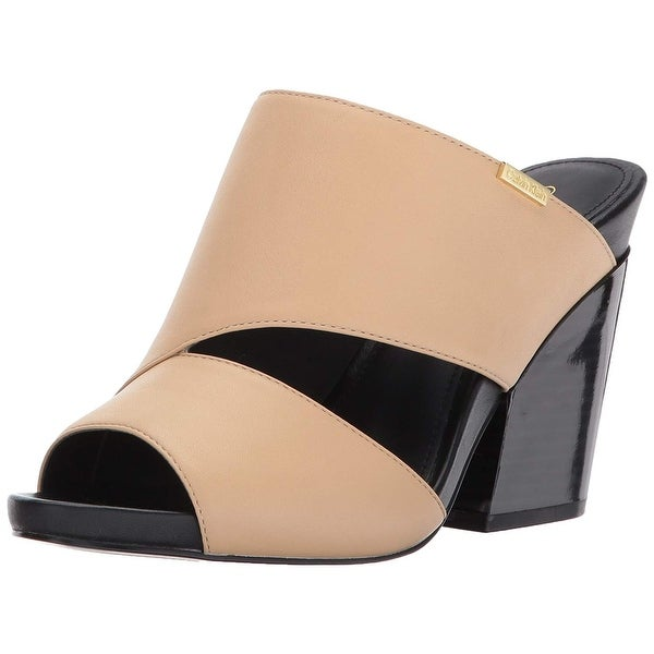 fad95c874453 Shop Calvin Klein Womens Efa Cervo Leather Open Toe Casual Slide ...