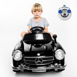 Costway Black MERCEDES BENZ 300SL AMG RC Electric Toy Kids Baby Ride on Car
