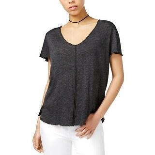 PROJECT SOCIAL T Cotton Unfinished Hem T Shirt Black - L