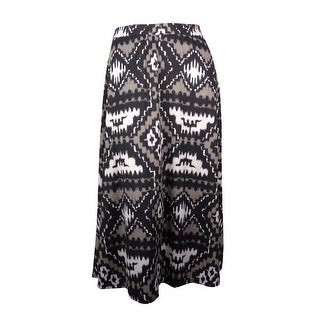 INC Women's Harvest Sun Elastic Waist Jersey Maxi Skirt - Gypsy Tribal