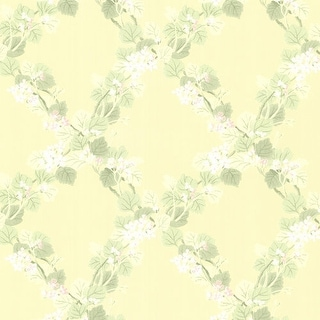 Brewster 344-68758 Delphia Yellow Jasmine Trellis Wallpaper