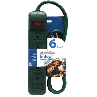 Link to 6' Brite Star Indoor 6-Outlet Power Strip Electrical Cord – Green Wire Similar Items in Electrical Cords