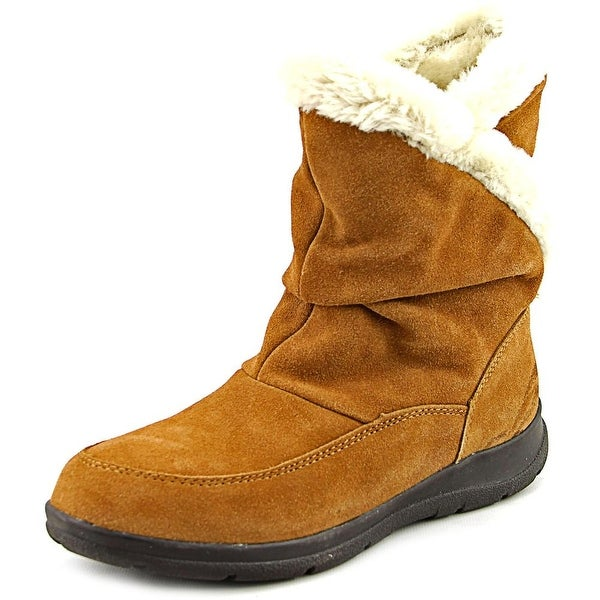 White Mountain Traffic Women Round Toe Suede Tan Winter Boot