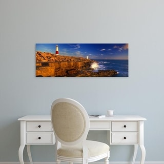 Easy Art Prints Panoramic Images's 'Seaside, Portland Bill Lighthouse, Isle of Portland, Dorset, England' Canvas Art