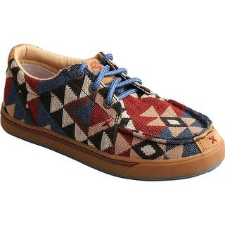 Twisted X Boots Children's YHYC001 Moc Toe Shoe Graphic Pattern Canvas