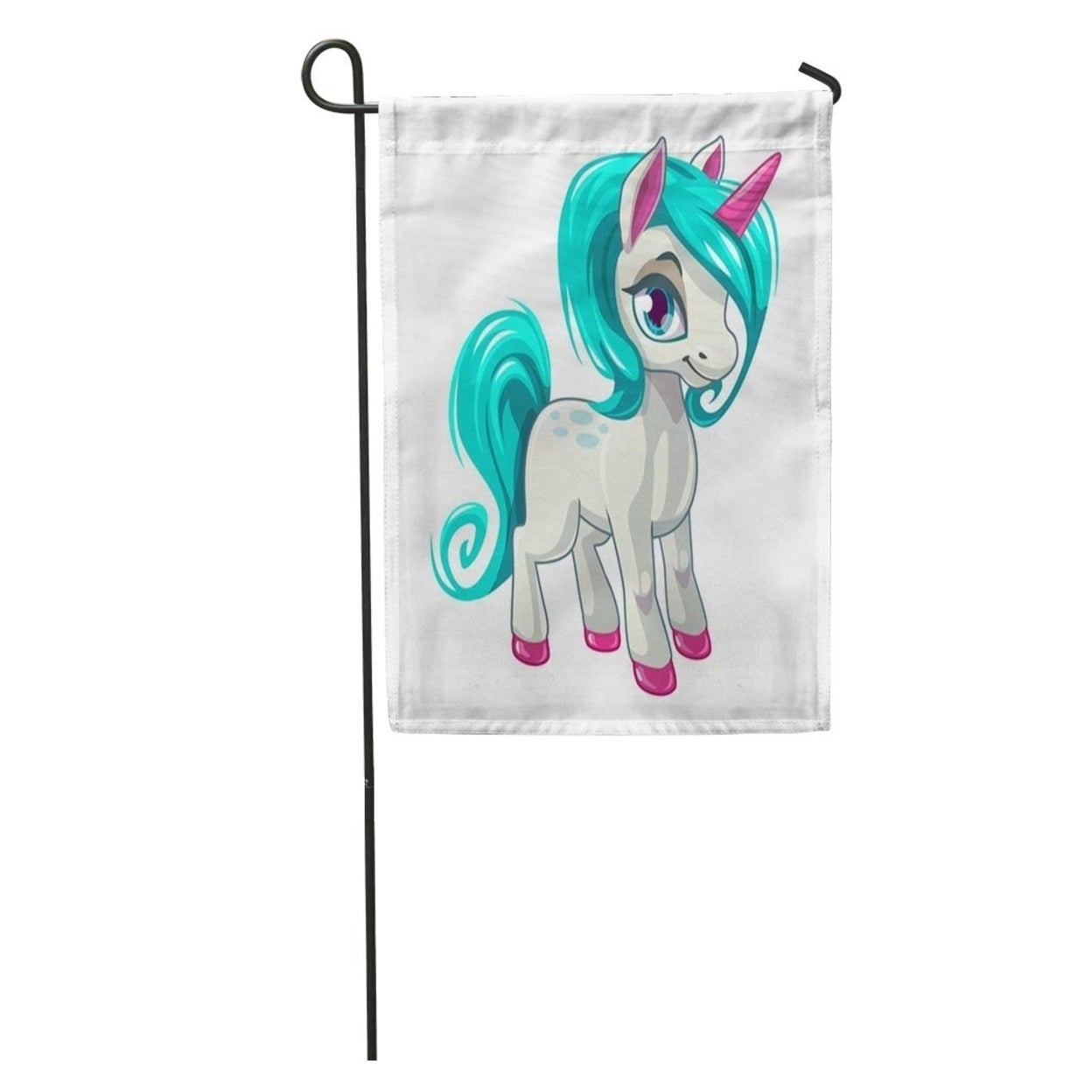 Shop Baby Cute Cartoon Unicorn Fantasy Little Beautiful Horse Girlissh Character Garden Flag Decorative Flag House Banner 28x On Sale Overstock 31401958