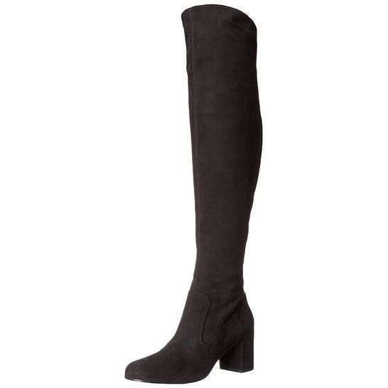 Vince Blythe Over the Knee Suede Boots Shoes Black