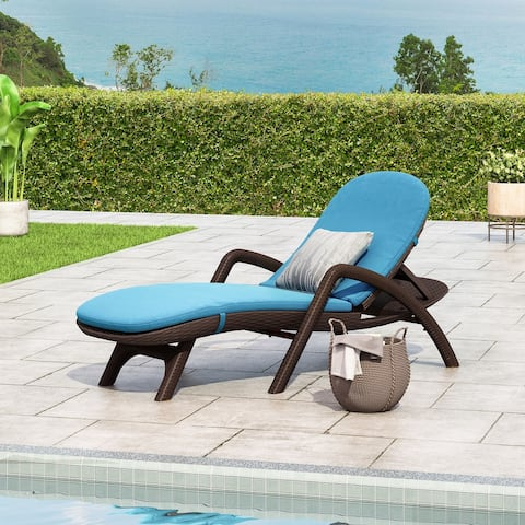 Waverly Faux Wicker Chaise Lounge by Christopher Knight Home