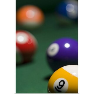 """Pool balls"" Poster Print"