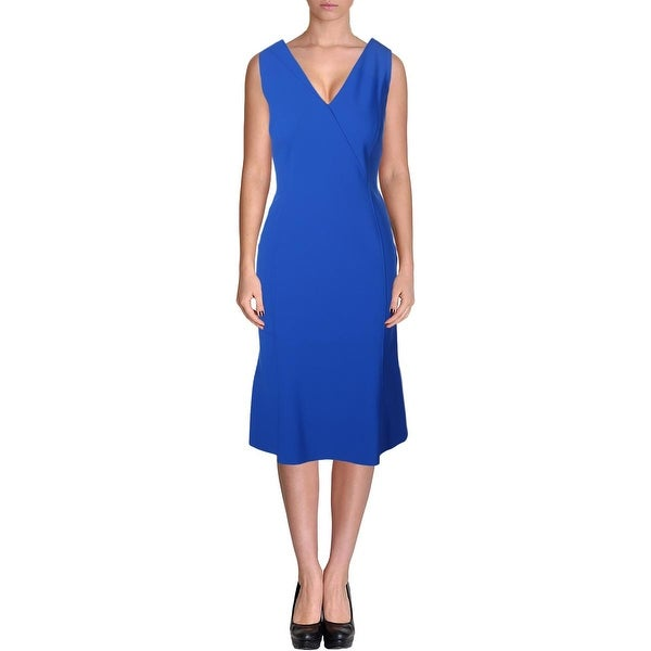 Elie Tahari Womens Katelynn Wear to Work Dress Double-V Sleeveless