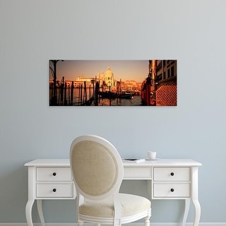 Easy Art Prints Panoramic Images's 'Gondolas In A Canal, Venice, Italy' Premium Canvas Art