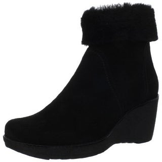 La Canadienne Womens Vicky Wedge Boots Suede Ankle