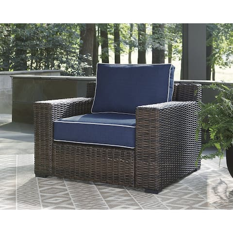 Grasson Lane Brown/Blue Lounge Chair