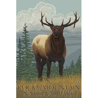 Rocky Mountain Park, CO - Elk - LP Artwork (Cotton/Polyester Chef's Apron)