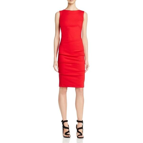 68962fc22b52c5 Shop Nicole Miller Womens Cocktail Dress Ponte Sleeveless - Free ...