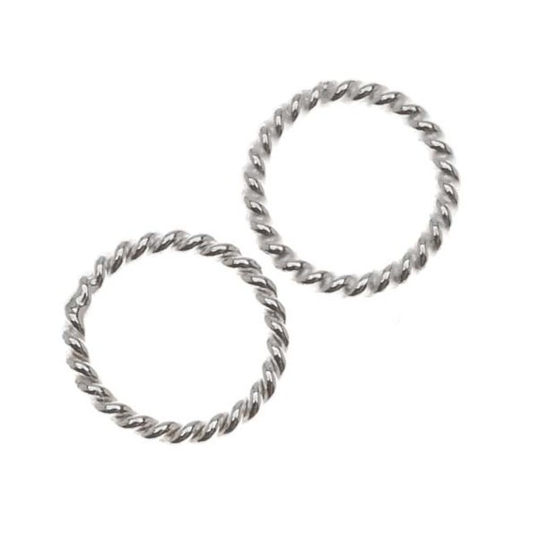 Sterling Silver Closed Jump Rings Twisted 7mm 19 Gauge (10)