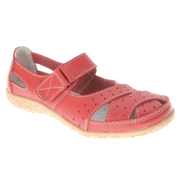Women's Spring Step Leather Mary Jane Sandals - Wide Width
