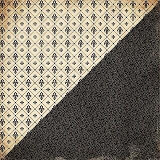 "#5 Fleur De Lis - Nightfall Double-Sided Cardstock 12""X12"" - 18/Pack"