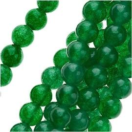 Green Candy Jade 4mm Round Beads / 16 Inch Strand