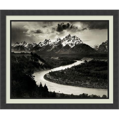 Framed Art Print 'The Tetons and the Snake River, Grand Teton National Park, Wyoming, 1942' by Ansel Adams 26 x 22-inch