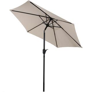 Sunnydaze Patio Market Umbrella W/ Tilt U0026 Crank 7.5ft Aluminum   Multiple  Colors