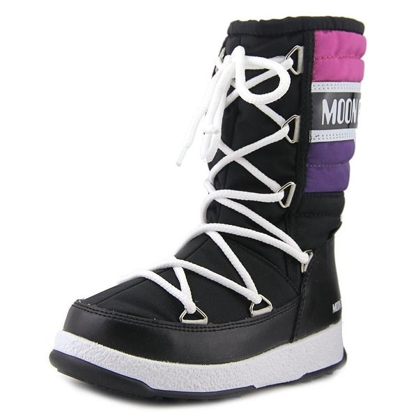 Tecnica Moon Boot W.E. Quilted Jr Wp   Round Toe Canvas  Winter Boot