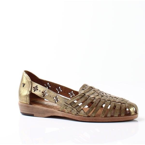 Trask NEW Gold Women's Shoes Size 8M Haley Huarache Sandal