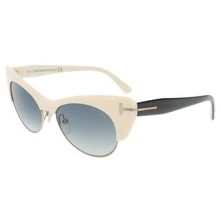 Tom Ford FT0387/S 25F Lola Ivory Cat Eye Sunglasses