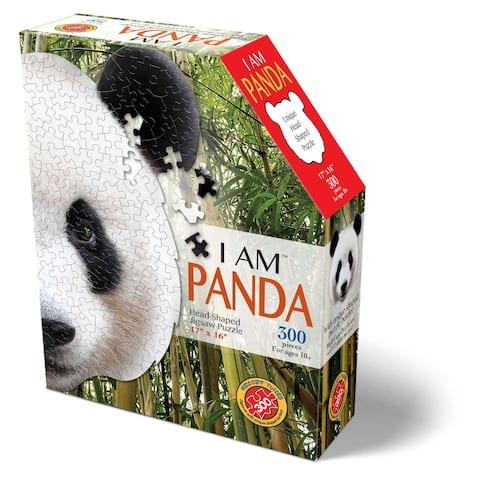 Madd Capp Puzzles - I AM Panda - 300 Pieces - Animal Shaped Jigsaw Puzzle