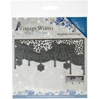 Snowflake Swirl Edge - Find It Trading Amy Design Vintage Winter Die