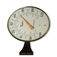 "Taylor 480BZ Dial Thermometer, 8.5"", Bronze"