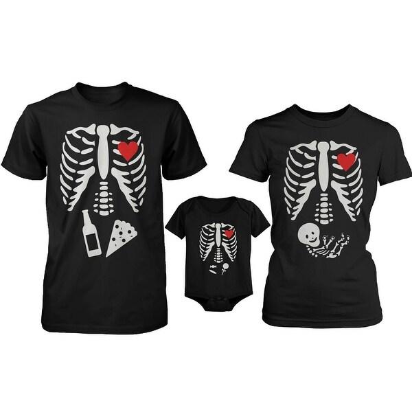 Skeleton Family Family Matching Shirts and Bodysuit