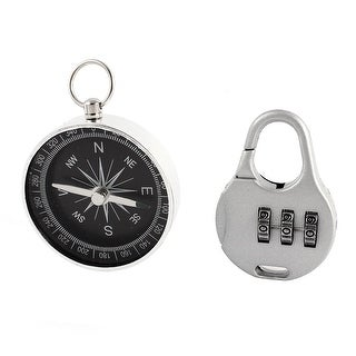 Travel 3 Digits Combination Suitcase Luggage Lock Padlock w Compass