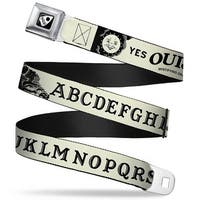Ouija Planchette Full Color Black White Ouija Board Elements1 White Black Seatbelt Belt
