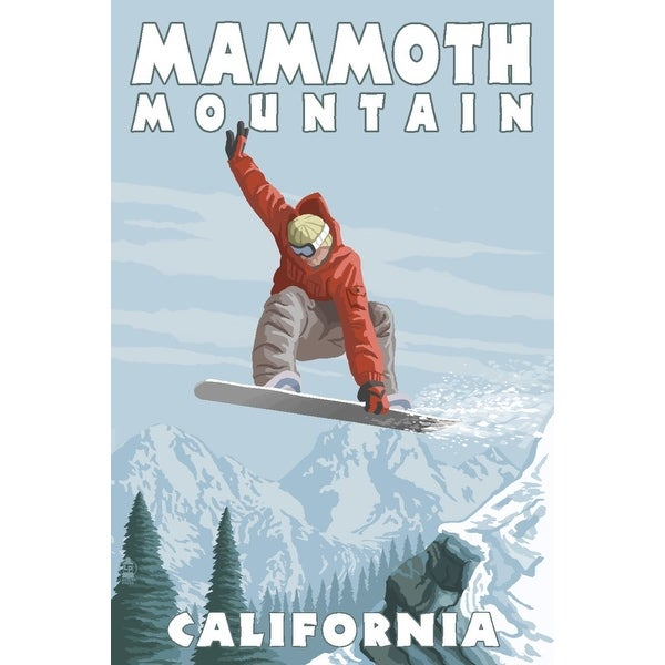 Mammoth Mountain CA Snowboarder Jumping LP Artwork (Light Switchplate Cover)