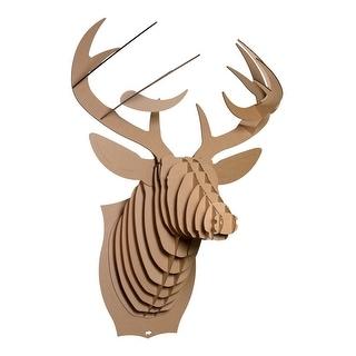 Brown Micro Bucky The Deer Recycled Cardboard Wall Sculpture