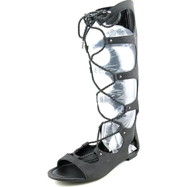 Bar III Rayanne Women Open Toe Synthetic Black Gladiator Sandal
