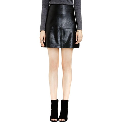 Vince Camuto Womens Mini Skirt Pleather Boxy