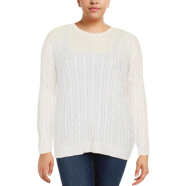 2160397cf Shop Lauren Ralph Lauren Womens Pullover Sweater Crew Cable Knit - Free  Shipping On Orders Over  45 - Overstock - 23139431