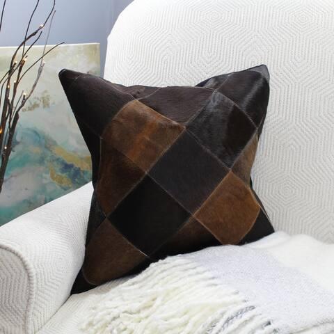 Natural Geo Black/Brown Geometric Diamond Throw Pillow