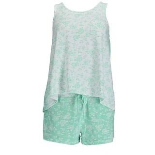 Sag Harbor Women's Floral Tank and Short Pajama Set
