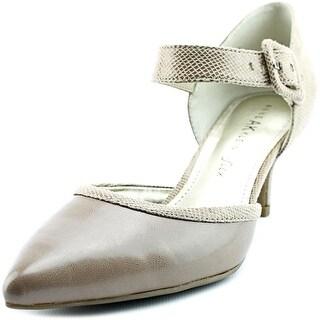 Anne Klein Faithful Women Pointed Toe Canvas Heels