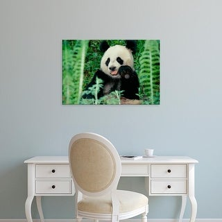 Easy Art Prints Keren Su's 'Panda In The Forest' Premium Canvas Art