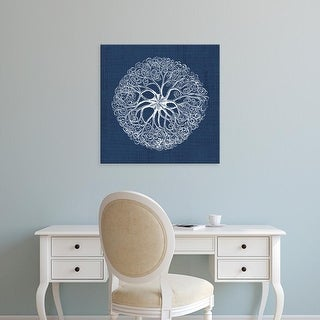 Easy Art Prints Vision Studio's 'Sea Anemone on Indigo II' Premium Canvas Art