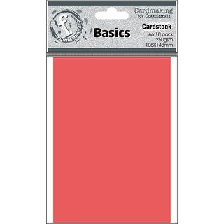Fundamentals Cardmaking A6 Cards 10/Pkg-Candy Red