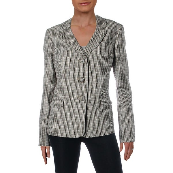 Le Suit Womens Three-Button Blazer Tweed Office - 10