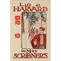 Scribner's - Life at Harvard 1897 - Vintage Ad (Art Print - Multiple Sizes)